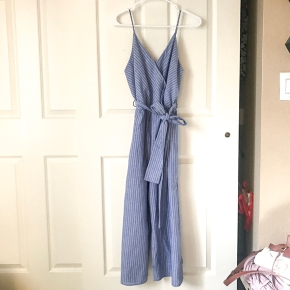 7c6c834db469 New blue jumpsuit with white stripes! So cute!